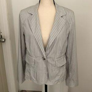 Cabi cotton nylon striped blazer cardigan Size 8